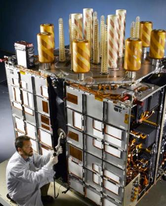 Antennes d'un satellite G.P.S.